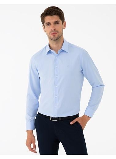 Pierre Cardin G021Gl004.000.1294438.Vr032 Gömlek Uzunk Mavi